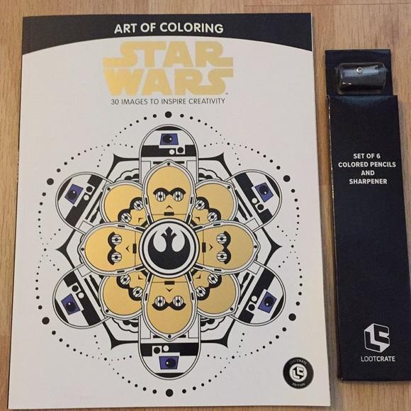 Disney Office Star Wars Coloring Book Colored Pencils Poshmark